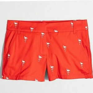 J. Crew Broken In Chino Flamingo Shorts Flat Front